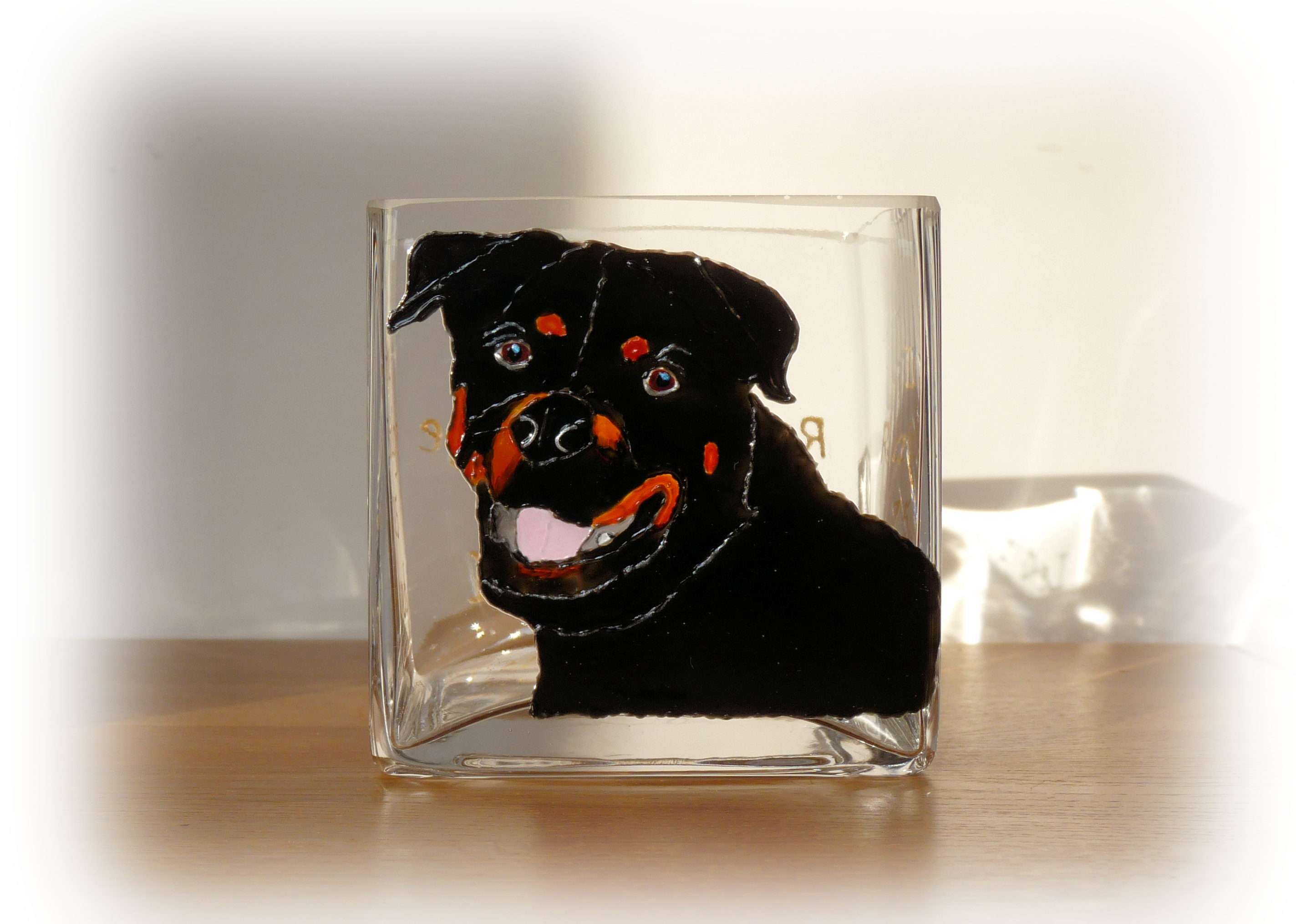 Rottweiler Candle Holder