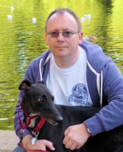 Chris Dignam, Greyhound Rescue, Greyhound Author, Largest Rabbit, Hound in the House.