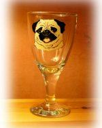 Pug, Pug Glass, Pug Glassware, dog glass