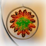 Autumn Man, Autumn Green Man, suncatcher, green man design