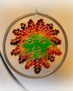 Autumn Man, Autumn Green Man, suncatcher, green man design