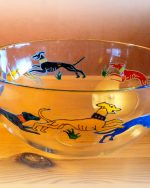 Dancing Dogs, Celtic Dogs, Greyhound Glass, Greyhound Bowl,