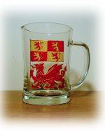 Owain Glyndwr, Owain Glyndwr Tankard, Welsh Tankard, Handmade in Wales, Welsh Design, Welsh Glass, Dragon Glass