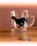 greyhound, greyhoung glass, greyhound mug, greyhound design, running greyhound
