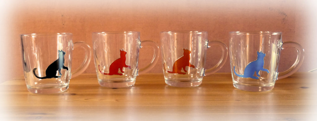 cat mug set