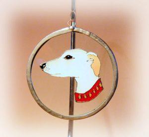 greyhound, greyhound art, greyhound glass, Welsh art