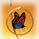 Butterfly Suncacther, Butterfly glass, art glass, Welsh art