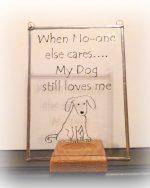 dog suncatcher, dog glassware, dog gift, dog art, dog present