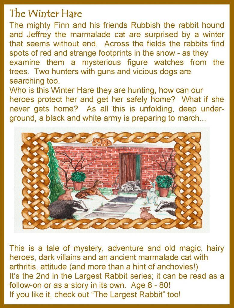 Winter Hare, Celtic Magic,Hare, Greyhound, Finn, Mighty Finn, Rubbish, Rabbit, Winter Hareh