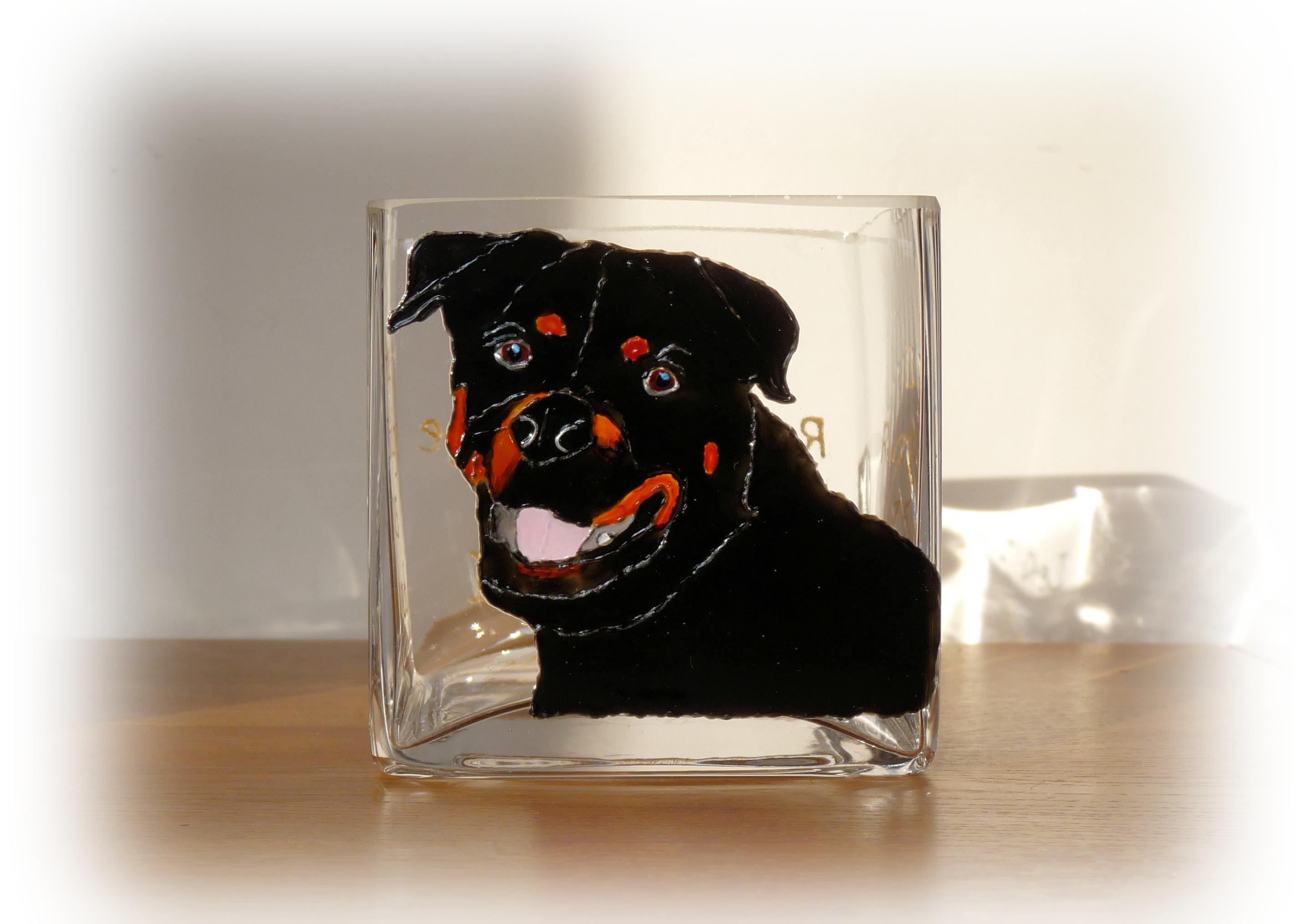 Rottweiler Candle Holder