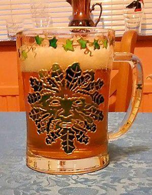 Green Man, Glassware, art,