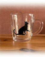 cat, cat glassware, cat designs, cat art