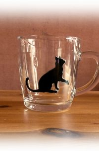 cat, cat glassware, cat designs, cat art
