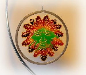 Green Man, suncatcher, green man design