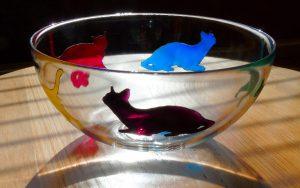cats, cat glass, cat design, colourful cats, cats artwork