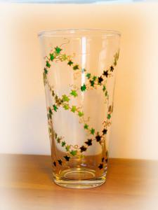 Green Vase, Spring Leaves, Spring Vase