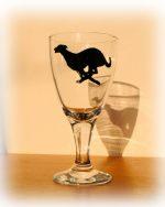 greyhound glass, greyhound glassware, greyhound design, greyhound art