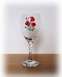 Poppy glass, Corn poppy, Red Poppy