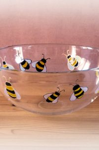 Bees, Bee Art, Bee Design, Bee Glassware, Bee Glass, Honey Bowl