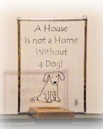 dog glassware, dog gift, dog glass, dog suncatcher, Welsh dog