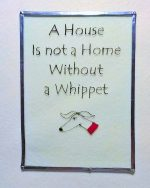 Whippet, Whippet art, Whippet glass, whippet design, whippet suncatcher, suncatcher, Welsh art, Welsh Glass, Greyhound art, greyhound glass