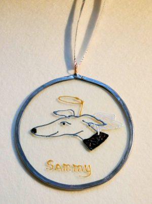 Xmas Hound, Greyhound, Greyhound decoration, tree decoration, greyhopund memorIAL