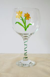 Welsh Daffodil, Welsh Glass, Daffodil Glass, Welsh Emblems, Welsh Art, Glass Art, Crafted in Wales