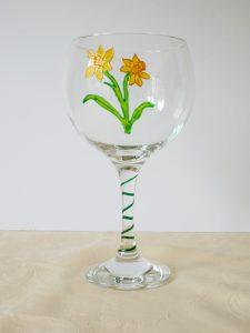 Welsh Daffodil, Welsh Glass, Daffodil Glass, Welsh Emblems, Welsh Art, Glass Art, Crafted in Wales