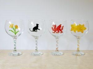 Gin Glass, Glass Art, DRagon Glass
