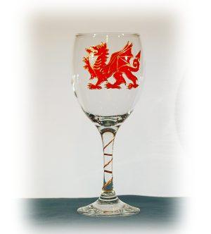 Wales Glass, Welsh Glass, Wales Wine, Welsh Wine, Dragon Glass, Dragon WIne Glass, Dragon Drinking Glass, Wales Glass, Welsh Gifts, Gift from Wales