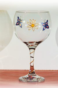 Butterfly, Butterfly Glass, Gin Glass, Welsh Glass, Welsh Gin, Daisy Glass, Wales, Welsh Art, Welsh Design