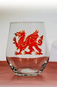 Welsh Dragon, Red Dragon, Dragon Glass, Gin Glass, Welsh Gin