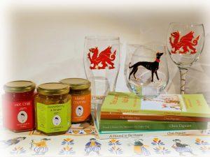 Welsh Jams, Welsh Marmalades, Welsh Glass, Dragon Glass, Childrens Books, Greyhound Books, Artisan Food Producer
