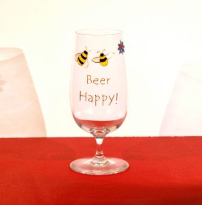 Beer Glass, Welsh Beer, Bee Glass, Beer Happy, Bee Happy, Welsh Beer, Welsh Honey, Crafty Bees, Bee Crafty