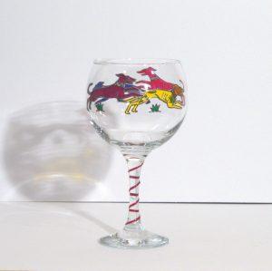 Greyhound Glass, Dog Glass, Welsh Glass, Welsh Gifts, Dog Glass, Greyhound Gifts,