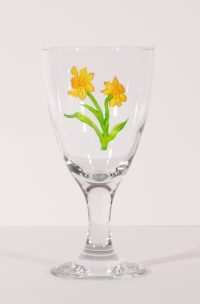 Welsh Gifts, Welsh Glass, Daffodil Glass, Daffodils, Welsh Daffodil, Narcissus, Welsh Art, Handmade in Wales
