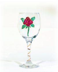 Rose Glass, Welsh Glass, Flower Glass, Rose Art, Rose Artwork.