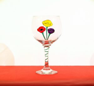 Welsh Glass, Welsh Gin, Welsh Gin Glass, Welsh Poppy, Crafted in Wales
