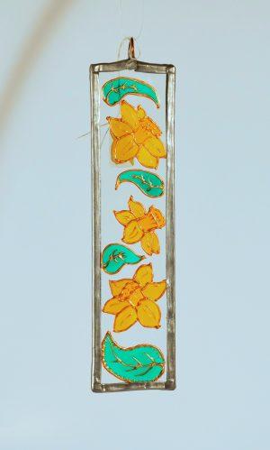 Daffodil, Welsh Daffodil, Daffodil Suncatcher, Welsh Gift, Welsh Gifts, Made in Wales