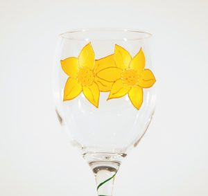 Welsh Daffodil, Welsh Glass, Daffodil Glass, Welsh Gift, Welsh Giftshop, Welsh Glass, Made in Wales