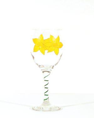 Welsh Daffodil, Welsh Gift, Welsh Glass, Daffodil Glass, Welsh Daff
