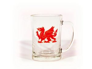 Welsh Dragon, Welsh Tankard, Welsh Gift, Welsh Beer, Welsh Glass