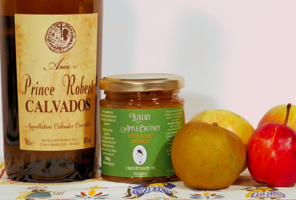 Welsh Chutney, Welsh Food, taste of Wales, Apple chutney, Calvados