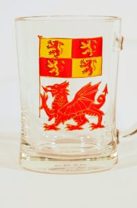 Welsh Glass, Dragon Glass, Welsh Glass, Owain Glyndwr, Owain Glyndwr Coat of Arms, Welsh Gift, Wesh Gifts, Welsh Glass, Dragon Glass, Made in Wales