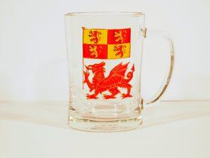 Welsh Glass, Dragon Glass, Welsh Glass, Owain Glyndwr, Owain Glyndwr Coat of Arms, Welsh Gift, Wesh Gifts, Welsh Glass, Dragon Glass, Made in Wales