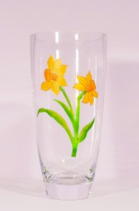 Daffodil, Daffodil VAse, Welsh Daffodils, Daffodil Vase, Narcissus, Welsh Gifts, Welsh Glassware, Welsh Designs, Welsh Art, Crafted in Wales