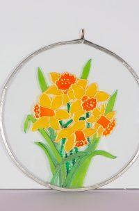 Welsh Daffodil, Welsh Daffodils, Daffodil, Suncatcher, Welsh Glass, Welsh Gift, Welsh Daffodils, Daffodil Gift